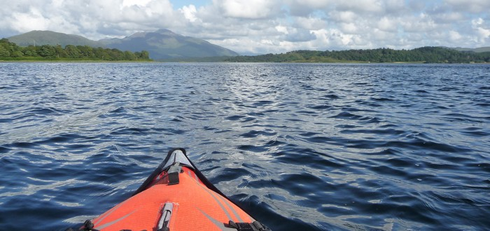 Kayaking on Loch Etive
