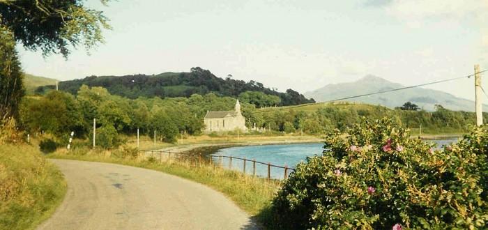 Lochside road below house